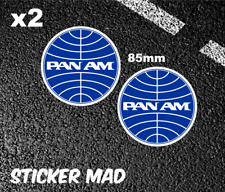 PAN AM Airlines Gloss vinyl Stickers ( High Quality ) DC10 AVIATION VINTAGE 747