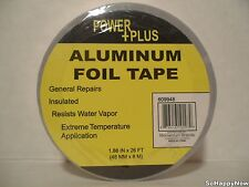 Power+Plus Aluminum Foil Tape 1.88 IN x 26 FT Strong Adhesive