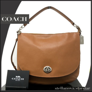 NWT - COACH TURNLOCK HOBO IN PEBBLE LEATHER 36762