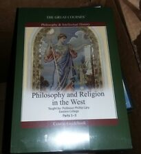Great Courses PHILOSOPHY & RELIGION IN THE WEST 6 DVDs,Study Guide STILL SEALED!