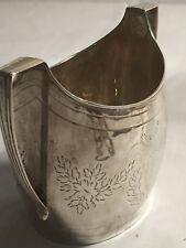Antique Georgian Sterling Silver Sugar Bowl Bright Cut Seeinside #GA