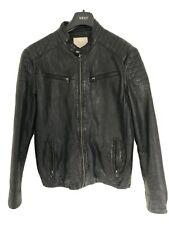 Men's Leather Jacket Slim Fit Medium - Selected Homme