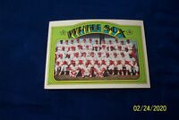 1972 TOPPS CHICAGO WHITE SOX TEAM CARD # 381