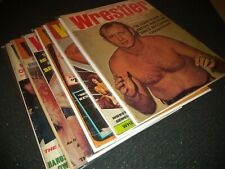 VINTAGE 1972 The Wrestler Lot of 6 / Includes Funk Jr. Feb issue W/Covers+ Bags