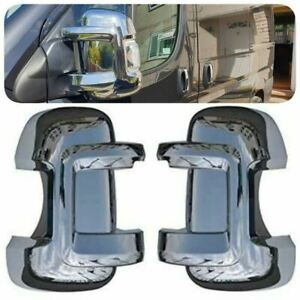 2006-2021 FIAT DUCATO/CITROEN RELAY/PEUGEOT BOXER CHROME WING MIRROR COVER ABS