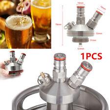 StainlessSteel Keg Tap Dispenser for Mini Craft Beer Quick Connector 2 ball Lock