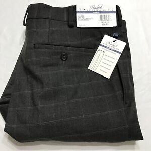 Ralph Ralph Lauren Men's 36x32 Brown Comfort Flex Slim Fit Dress Pants NWT
