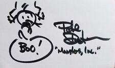 """Monster,Inc"" Animator Pete Docter Signed 3X5 Drawing JG Autographs COA"