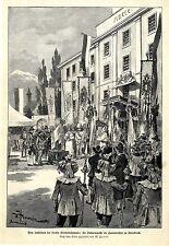 Jubiläum der tiroler Freiheitskämpfe: die Fahnenweihe Kaserne zu Innsbruck 1896