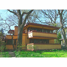 """ACEO Art Card Signed Print (2.5"""" x 3.5"""") Frank Lloyd Wright's Laura Gale House"""