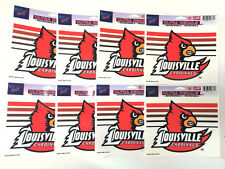 """Lot of 9 Officially Licensed 5 1/2"""" x 4 1/4"""" Ultra Decals LOUISVILLE Cardinals"""