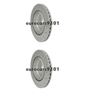 Mercedes E63 AMG Hella-PAGID Rear Disc Brake Rotors (2) 355122572 2114231112