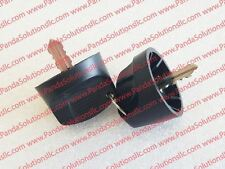 1115-500016-00 Black Plastic Molded Key - Set of 2