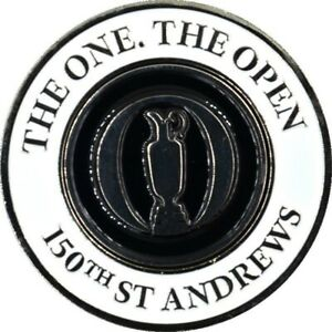 2022 BRITISH OPEN (St Andrews) COLLECTORS COIN BALL MARKER w/Removable BALL MARK