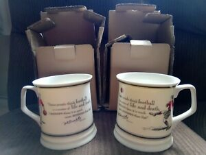 2 Past Times Bill Shankly quote football themed mugs new in original packaging