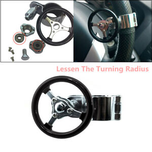 Black Car Booster Quick Steering Wheel Ball Suicide Knob Power Spinner for SUV