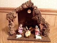 Christmas Nativity Scene Set Figures Figurines Baby Jesus 7 PIECE SET
