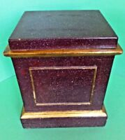 Italian Faux Porphyry Purple Red Marble Painted Wooden Display Stand C. 1890's