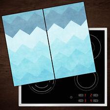 Herdabdeckplatten aus Glas Spritzschutz Chevron-Muster - 2x30x52 cm