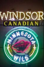 "Rare New Windsor Canadian Minnesota Wild Beer Bar Light Neon Sign 24""x20"""