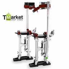 "Aluminum Drywall Stilts Pro 24"" - 40"" Sturdy Stand Professionals Lightweight USA"