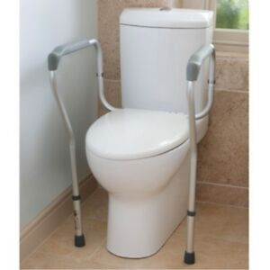 Toilet Surround Frame Mobility Support Safety Rail Helps You Stand Adjustable