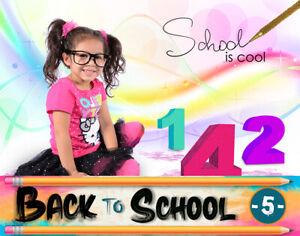 BTS5 Back to School Digital Backgrounds Backdrops Template Children Props Frame