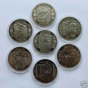 FOLK CRAFTS of UKRAINE Full Set 7 Coins 5 Hryvnia 2009 - 2012 UNC Free Shipping!