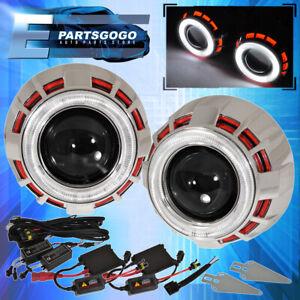"For Eagle Pontiac 2.5"" Hid Headlight Retrofit Projector Dual Ccfl Red White"