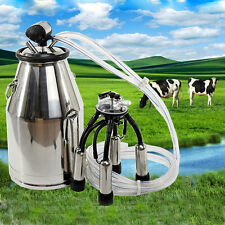 Stainless Milking Machine Portable Dairy Cow MilkerBucket Tank Barrel Cattle