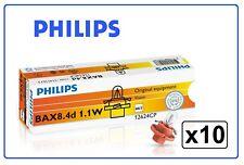 10x 12624 Philips 1.1W 12V BX8.4d instrument 1,1w bx8,4d BAX 12624CP dash light