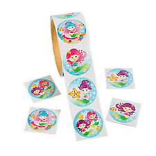 Mermaid Ocean Party Supplies Favours Stickers Seals Roll of 100