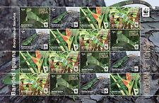 Tonga 2016 MNH Banded Iguana WWF 16v M/S Reptiles Lizards Stamps