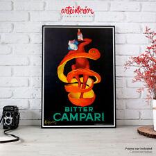 Poster Vintage Bitter CAMPARI (Cappiello) Art Novueau - Stampa Fine Art HR