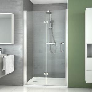 Duschabtrennung Falttür Dusche Nischentür 120 Duschtür NANO Glas Faltbar Glastür