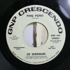 Pop 45 Jo Sherman - Ping Pong / Ping Pong On Gnp Crescendo