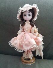 "Vintage Bradley Doll 8"" Korean, Big Eye Handpainted Cloth Face"
