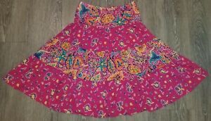 Womens Chaps Tiered Paisley Skirt Size Small