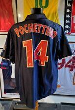 Maillot jersey shirt camiseta PSG paris vintage 2001 2002 Ronaldinho pochettino