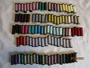 Kreinik Metallic Thread, Blending Filament, LOT OF 105, #8, FINE BRAID, HL