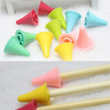 Pack Of 10Pcs Plastic Large Size Point Protectors/Stoppers for Knitting Needles