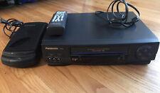 New listing Panasonic Omnivision Pv-9451 Vcr Vhs 4 Head HiFi Stereo + Remote & Rewinder Mint