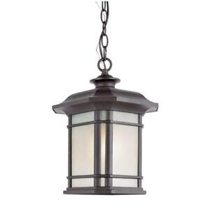 Bel Air Lighting 1-Light Outdoor Hanging Black Lantern