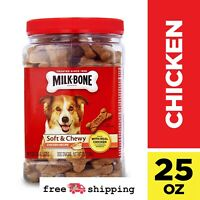 Soft And Chewy Treats Chicken Recipe Dog Snacks Milk-Bone  25-Ounce Jar