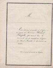 1851 : Faire-part obsèques de Robert FARGETTE, aubergiste à Riom (Puy-de-Dôme).