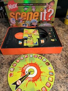 2006 Nick Scene It Trivia DVD Board GameNickelodeon Edition Complete Mattel