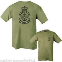 MENS T-SHIRT HM ARMED FORCES VETERAN BRITISH ARMY RAF NAVY 100% COTTON TOP GREEN