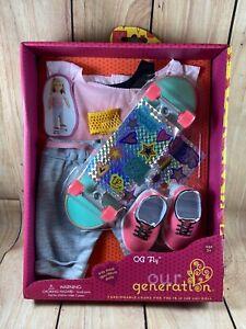 "Our Generation OG Fly Skate Board Outfit Skateboard for 18"" Doll American Girl"