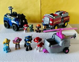 Paw Patrol Lot Figures and Vehicles Chase Marshall Skye Pups Toys Set