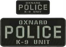 OXNARD POLICE K9 UNIT embroidery patches 4x10 and 2x5  hook on back
